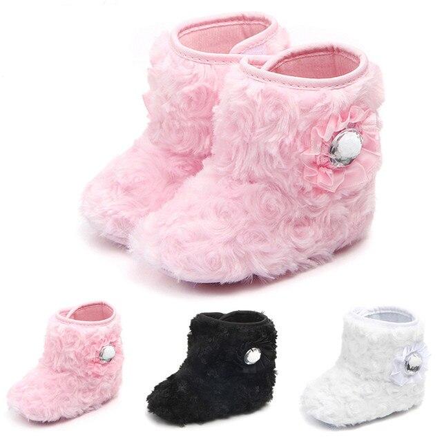 8af149ef0 Lindas botas de suela suave para niñas y niños recién nacidos abrigadas