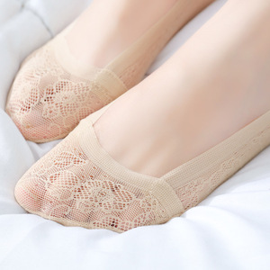 Woman Sock Slippers 1 Pair 2019 Spring New Women Sock Short Solid Lace Thin Women's Boat Socks No Show Women Invisable