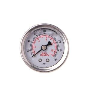 Image 1 - 有用な燃料圧力レギュレータゲージ 0 160 Psi/バー液体充填クローム燃料油ゲージ