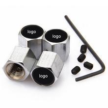 4 шт. противоугонные колпачки для автомобильных колес и шин для N-issan B-enz A-udi автомобильные аксессуары автомобиля-stying из нержавеющей стали