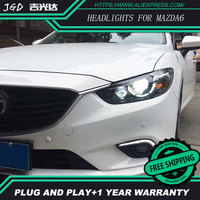 Free Shipping Car Styling LED HID Rio LED Headlights Head Lamp Case For Mazda ATENZA 2013