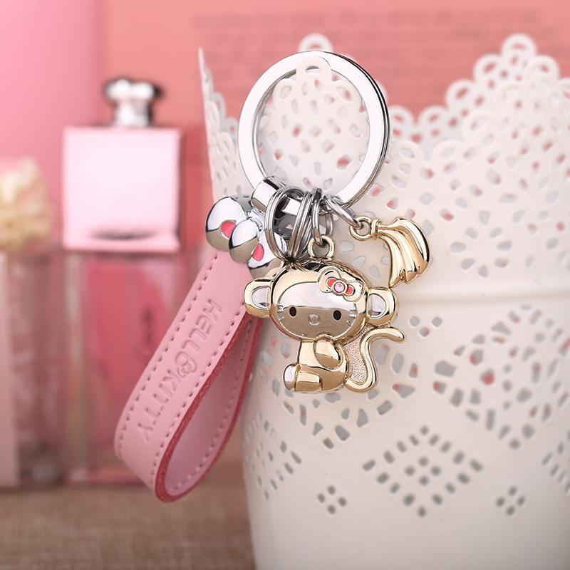 Milesi - New 2016 Brand Lovely Monkey Key chain Keychain Trinket Key Holder Rings for Women Novelty Gift innovative Items