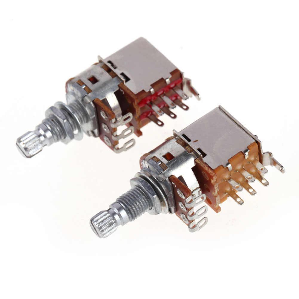 A500K + B500K bouton de commande Push Pull potentiomètre pour guitare électrique basse contrôle du Volume bouton de commutateur de guitare accessoire