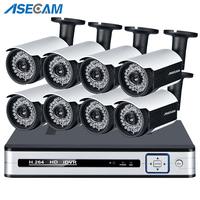 Super 5MP 4K HDMI HD NVR POE CCTV System Vandalproof Anti vandal Dome Indoor Outdoor H.265 IP Camera Surveillance System