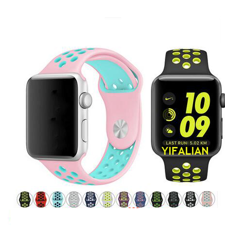 цена на Series 1/2/3/4 sport Silicone strap For Apple Watch Band 42mm 38mm 40mm 44mm wristband For iwatch strap Buckle Bracelet