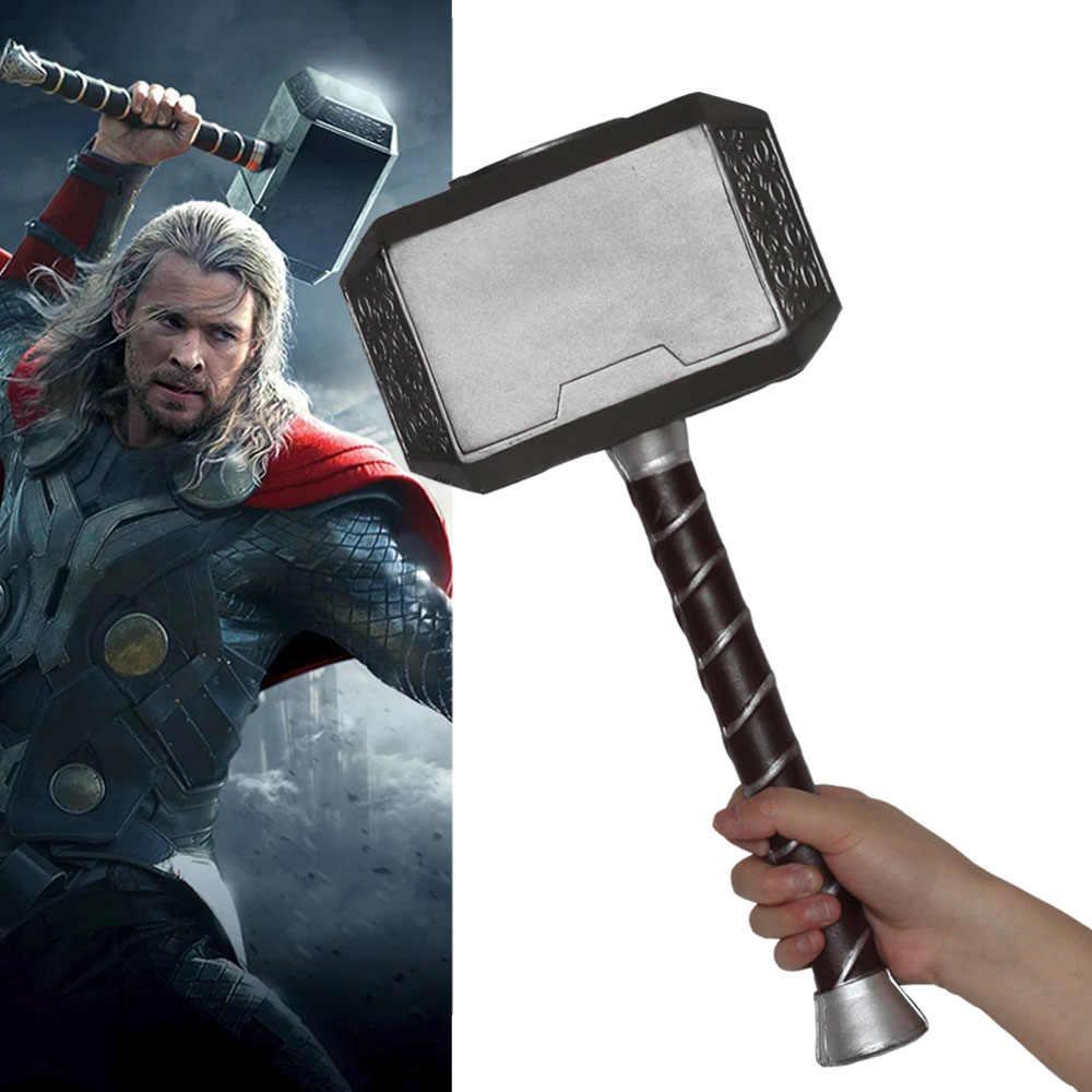 cf55e4586a Endgame 4 vingadores Thor Martelo Mjolnir de Super-heróis da Marvel Capitão  América Cosplay Arma