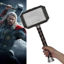 Avengers 4 Endgame Thor Hammer Captain American Cosplay Mjolnir Marvel Superhero Weapon PU Material Props 44cm