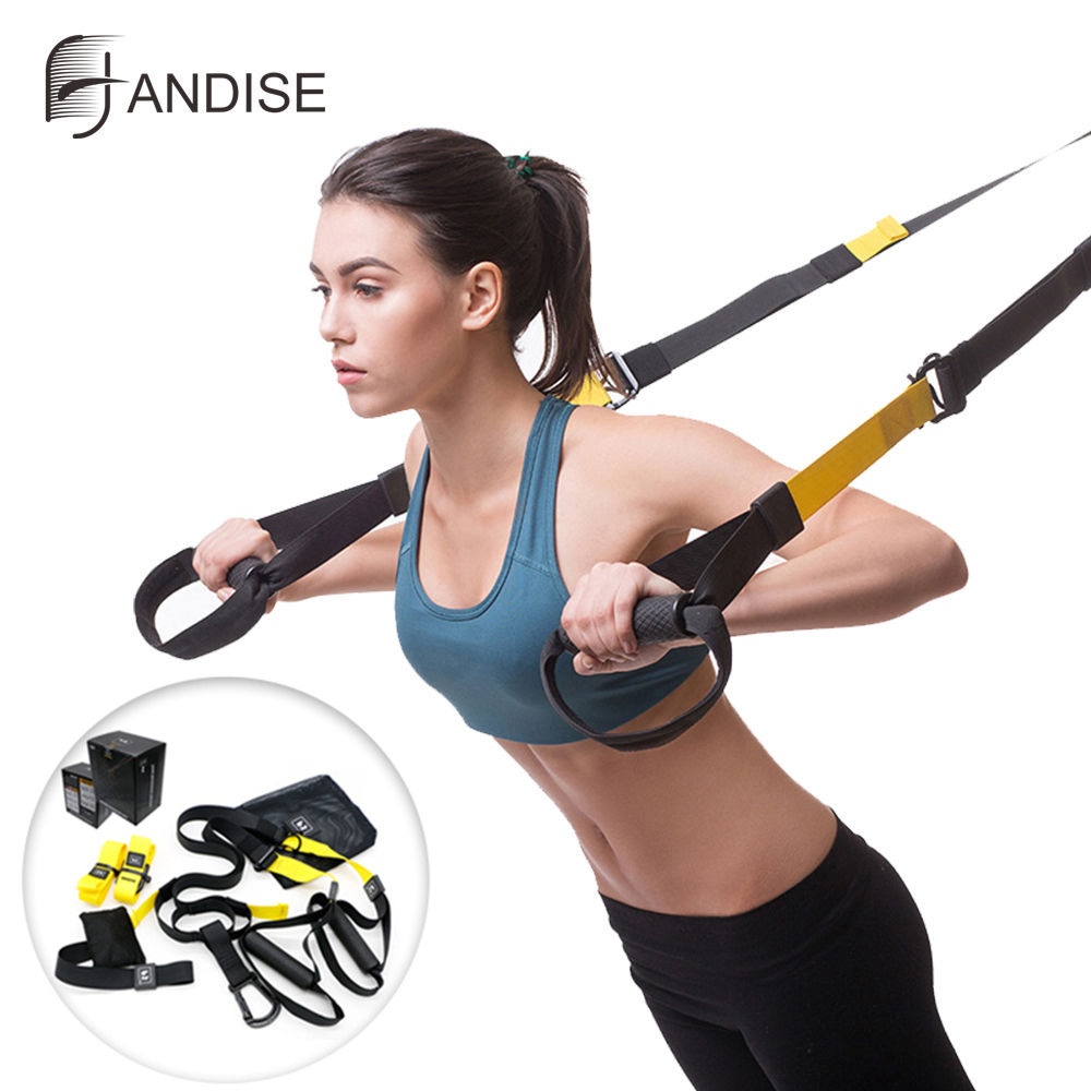 Hohe Qualität Übung Widerstand Bands Set Hängende Ausbildung Riemen Workout Sport Hause Fitness Ausrüstungen Frühling Exerciser