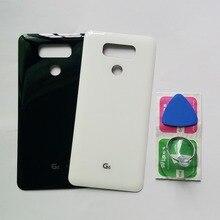 Tampa traseira do vidro para lg g6 h870 h870ds h871 h872 h873 ls993 caixa do telefone móvel novo painel traseiro porta da bateria + ferramentas