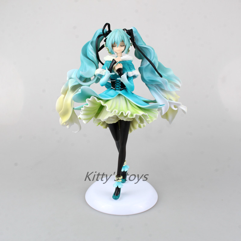 New Anime Doll Vocaloid Hatsune Miku Snow in Summer 1/7 Scale Pre-painted PVC Action Figure Model Toy 28cm 2012new double stage water purifier microporous ceramic filter actived carbon filter health beauty cooking water
