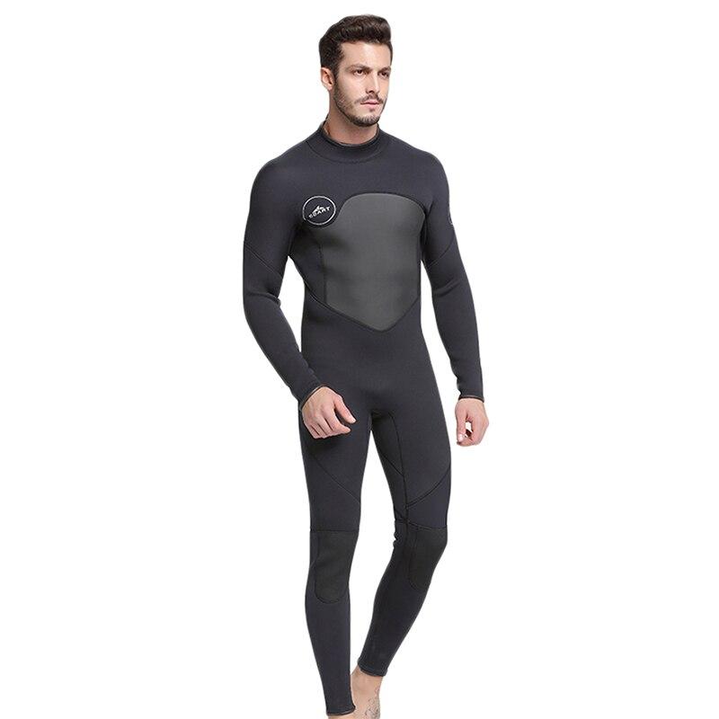 Lanbaosi Professional 5MM Neoprene Scuba Dive One Piece Wetsuit Back Zipper Spearfishing Wet Suit For Men Equipment Y50