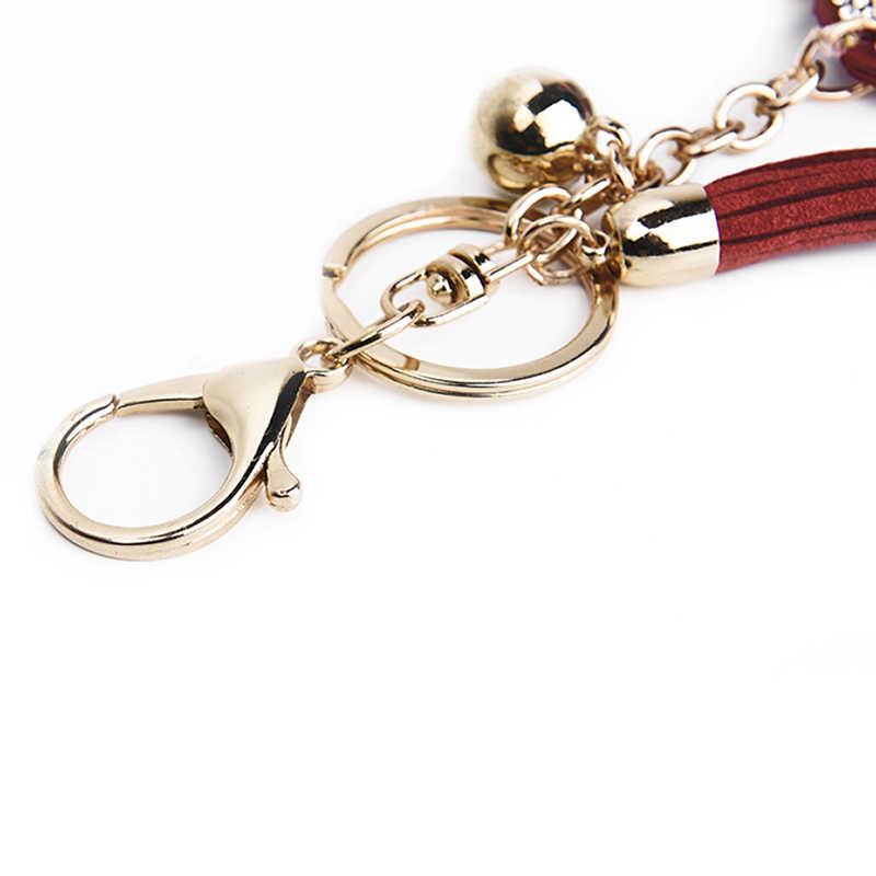 Nova versão Coreana do fofo chave pingente anel broca De Vidro em forma de senhoras saco chave do carro acessórios pingente de pequenos presentes