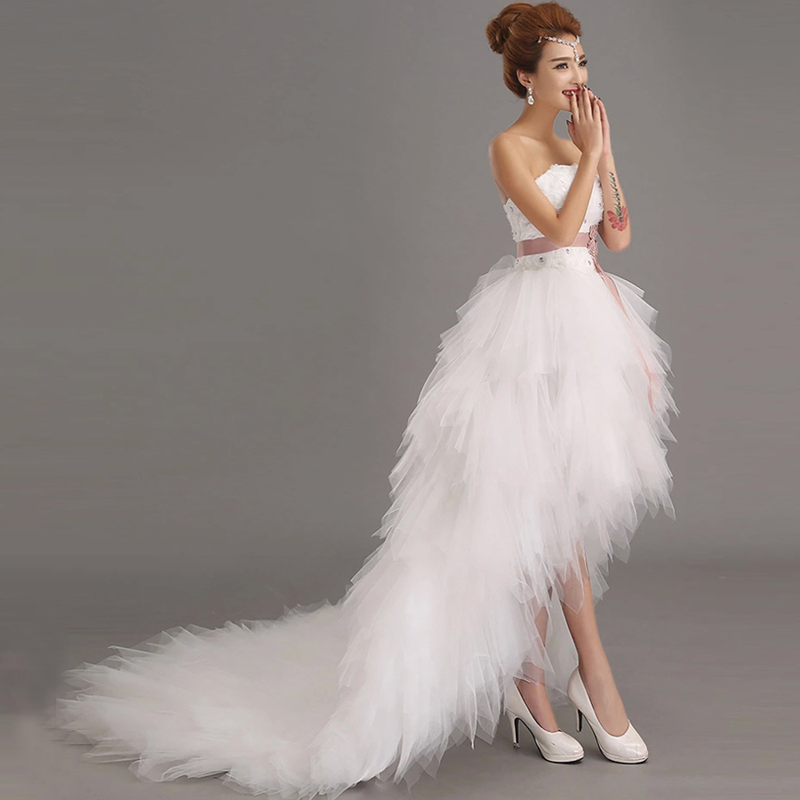 Ladybeauty 2018 Low price the bride royal princess wedding dress short train formal dress short design wedding growns