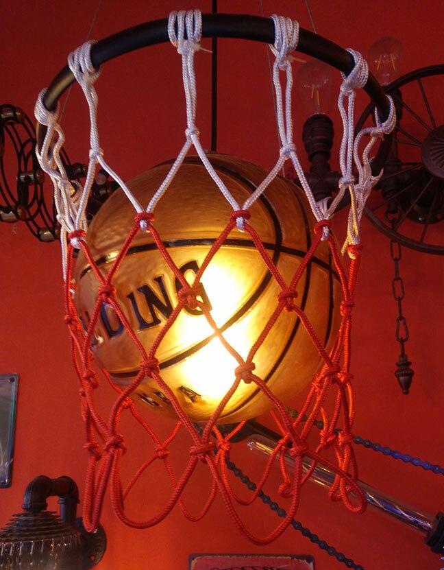 Sainavi Loft Retro Industrial Basketball Chandelier Guesthouse Cafe Bar Bar Clothing Shop Gymnasium Kids Room Lights the cafe shop vintage clothing store small chandelier bar loft iron chandelier geometry character