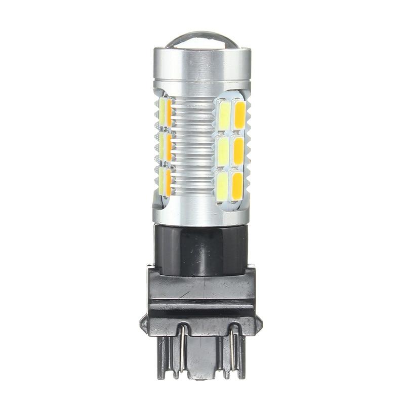 3.1 Вт Т25 3157 22SMD автомобилей 5630 LED двойной Цвет высокая мощность Янтарный/Белый Горки объектив объектив с DRL парковка лампы лампы