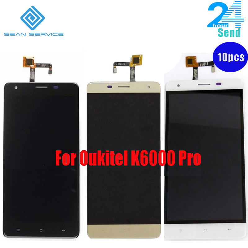 10 PCS / For Oukitel K6000 Pro LCD in Mobile phone LCD Display and TP Touch Screen Digitizer Assembly lcds 5.5
