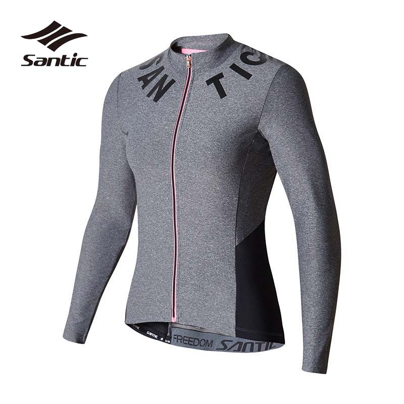 Santic Spring Summer Cycling Jersey Women Long Sleeve Anti-UV Cycling Shirt Breathable Road MTB Bike Jersey Bicycle Clothing 176 top quality hot cycling jerseys red lotus summer cycling jersey 2017s anti uv female adequate quality sleeve cycling clothin