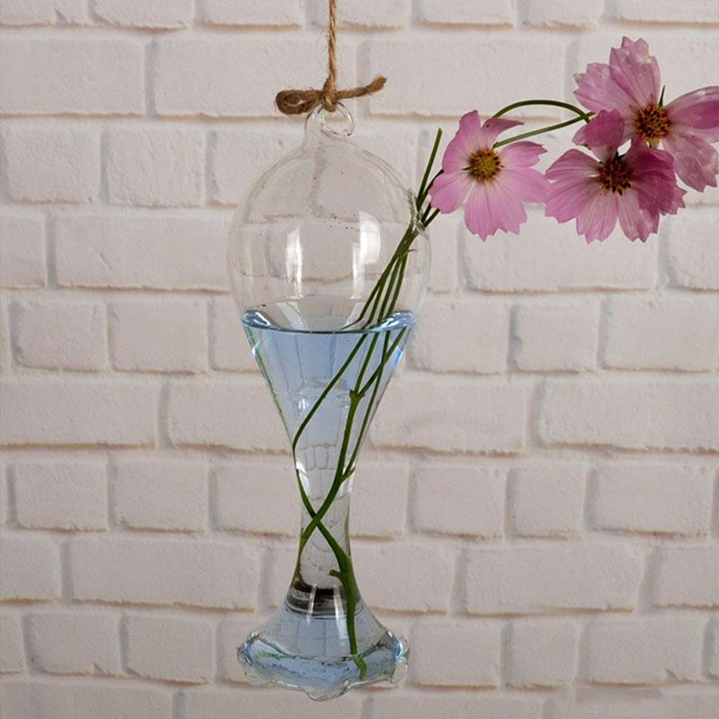 Creative Hanging Curved Glass Vase Decoration Home Glass Vase