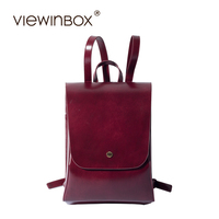 Viewinbox 2017 Backpack Retro Solid Backpacks For Teenage Girls Lady Split Leather Backpack Women Vintage Solid