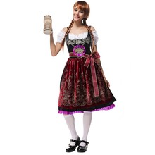 Vintage Cute Women Germany Oktoberfest Costumes Maid Service Bavarian Beer Girl Cosplay Party Clothing Fancy Dress M-XL