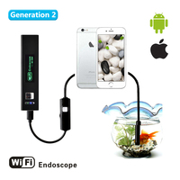 Wistino 8mm Wifi Endoscope Camera Hard Cable 1200P USB Cameras Android Iphone Waterproof CCTV Surveillance Mini Inspect Cam Tube