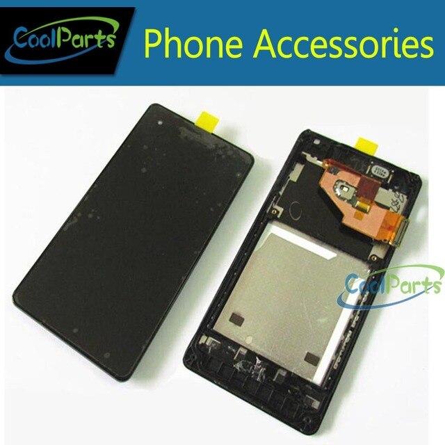 1 pc/lote para Sony Ericsson Xperia V LT25 LT25i Display LCD e Touch Screen digitador com Frame frete grátis