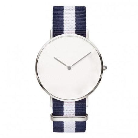 Navy no face watches white dial quartz machine  pure white dial face ziz time watches navy