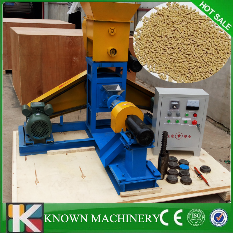 From 1 12mm molds floating fish feed pellet extruder meal making machine free sea shipping 110v