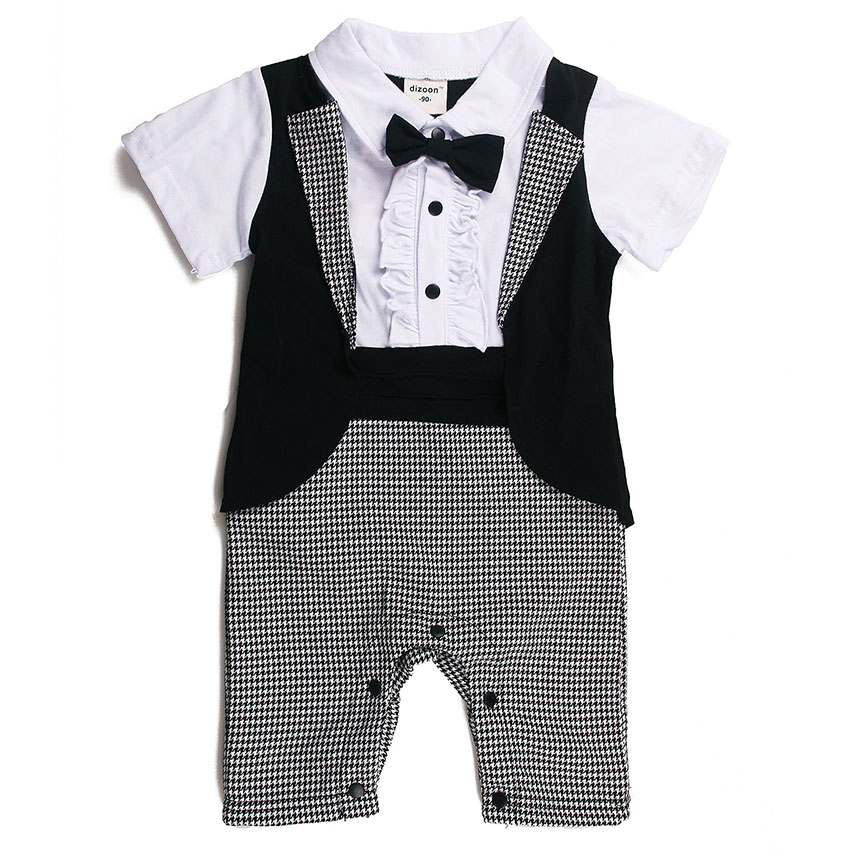Dizoon Toddler Baby Children's Clothes Set Stylish Formal Style Short Sleeve Boys Clothes for Infant Baby Suit 70-95CM