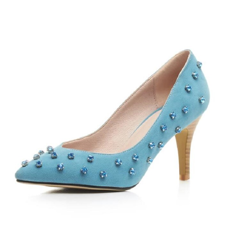 Compare Prices on Blue Studded Heels- Online Shopping/Buy Low ...