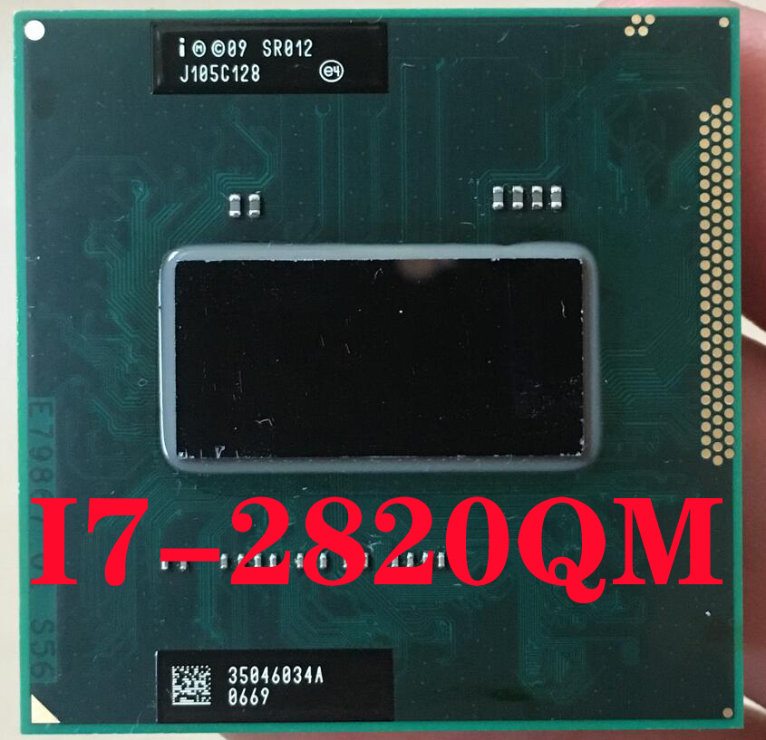 SR012 Intel Core I7-2820QM Laptop Processor Socket G2 RPGA988B Notebook Cpu 100% Working Properly I7 2820QM