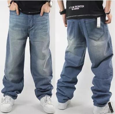 Hip Hop Jeans For Men 2017 New Fashion Light Blue Baggy Jeans Skateboarder Denim Pants Free Shipping hip hop jeans for men 2017 new fashion light blue baggy jeans skateboarder denim pants free shipping