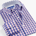 SmartFive Shirts For Men 2016 Spring Long Sleeve Cotton Plaid Shirt Casual Camisas Hombre Vestir Brand Clothing Size 5xl 6xl