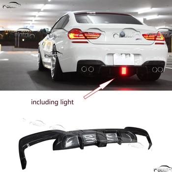 Auto Styling Carbon Fiber Rear Bumper Lip Protector Diffuser voor BMW F12 M-TECH M SPORT inclusief Achterlichten