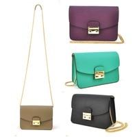 Women Genuine Real Leather Mini Handbag Chain Shoulder Cross Body Bag Fashion Purse Hobo Messenger Party