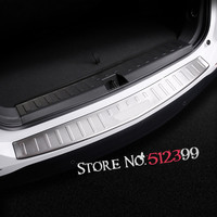 2018 For Chevrolet Holden Equinox Outer Rear Trunk Door sill Bumber Proecting Cover Moulding Plate Trim Stainless Steel