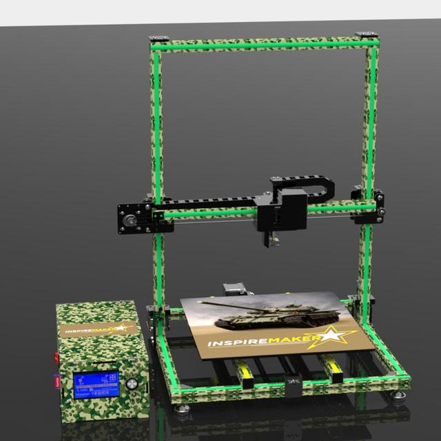 Metal frame 3d printer Fudream DIY printer 3d kit with large printing size and cheap price 2