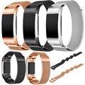 New Arrival 2017 Marca faixas de Relógio Rosa de Ouro Pulseira de Aço Inoxidável smart watch strap band para fitbit carga 2 pulseira de venda quente
