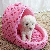 Pets Dog Bed Soft Bed For Dog Cat Rabbit Dog House Yurt Shape House Kennel