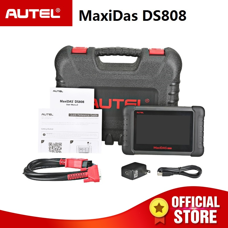 Autel Maxidas DS808 OBD2 Automotive Diagnostic Tool OBDII Scanner code reader for TPMS Programming key coding PK MS906 DS708