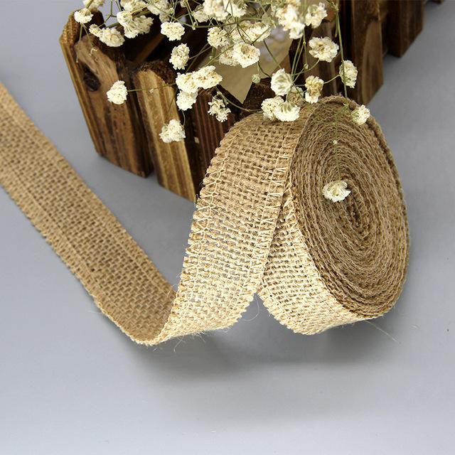 Jute Burlap Rolls (2 mt) gift wrap and Christmas decoration