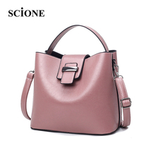 Hot 2017 Simple Style Tote Bags Women Fashion Leather Solid Buckle Bag Black Shoulder Bag Handbags Top Handle Belt Bolsos ZZ626