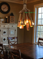 edison bulb retro pendant lamp bronze cottage style bamboo pendant lamp cloth shop handmade pendant lights