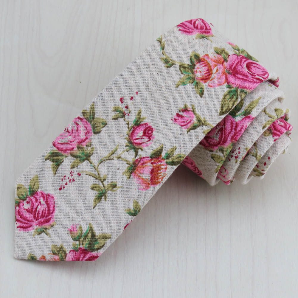 (1pcs/lot)Flower Pattern Design Of Narrow Tie/Classic Look Good/Beautiful And Easy/The Feeling Of A Little Old