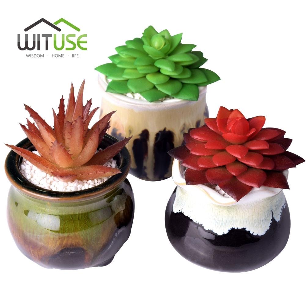 Vase Container DIY Wedding Home Decoration Ceramic Flowerpot Flowing Planter Succulent Desktop Pot Mini Plant Pottery Bonsai