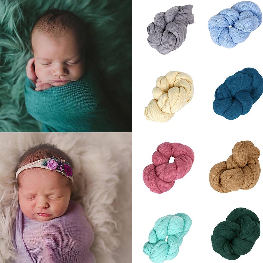 יילוד תמונת נכס כורכת לסרוג רך למתוח צילום נכס תינוק שמיכות יילוד צילום Props יילוד צעיף אביזרים שמיכות עטיפה Aliexpress