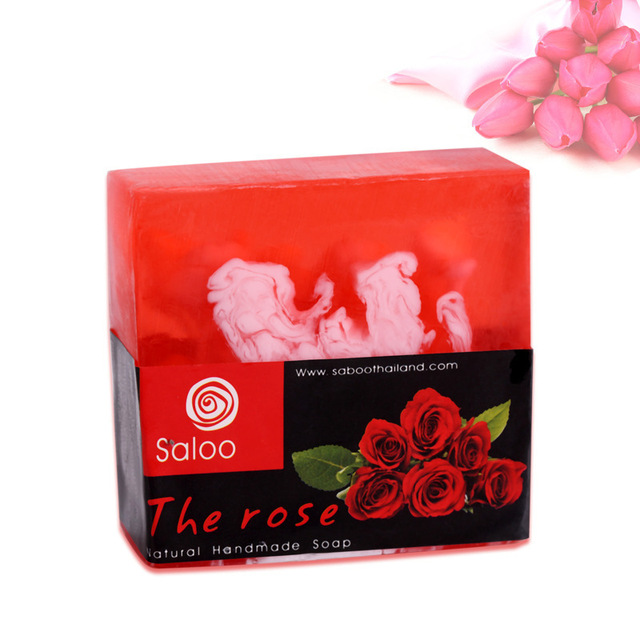 Natural Rose Essential Oil Soap Whitening Moisturizing Active Skin Cleansing Handmade Soap 100g Facial Cleaning Oil Control Care