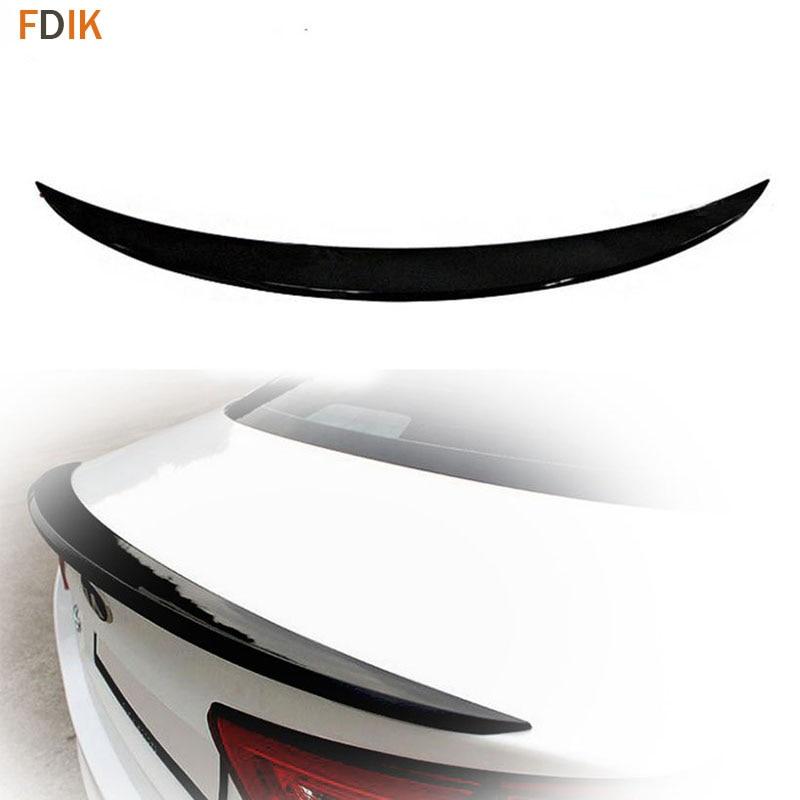 Спортивные глянцевый черный задний спойлер багажника крыло для Kia K5 Optima 2014 2015