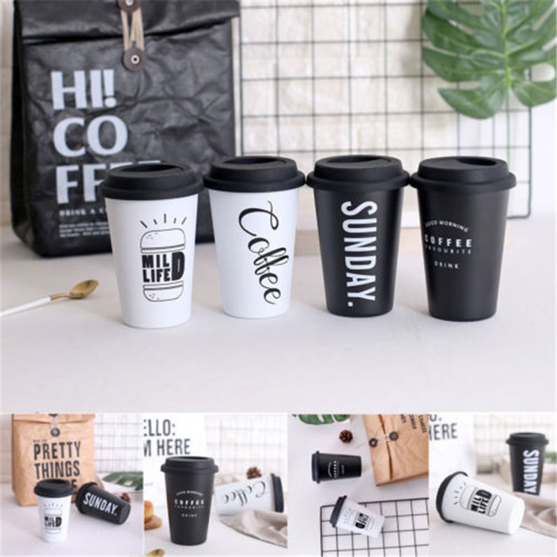 Coffee Mugs Thermal Stainless Steel Coffee Mugs Tea Cups Big Travel Mug Camping Mugs Coffee Cup 500ml in Mugs from Home Garden