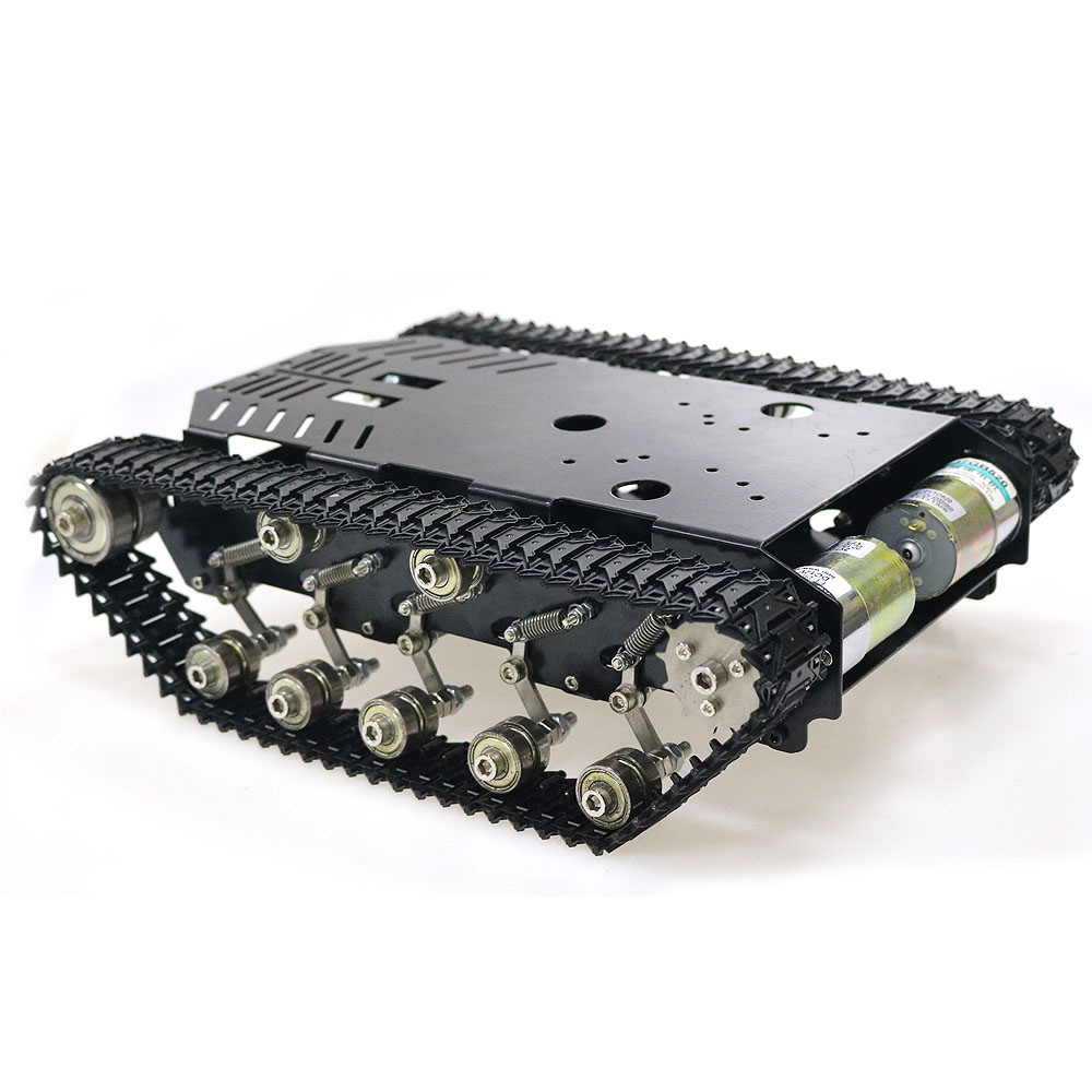 Big Load RC Shock Absorber Robot Crawler Tank Model Car Chassis with 12V 300rpm Motor High